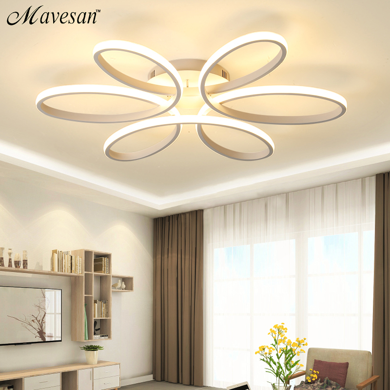 Modern led chandelier lighting for living room bedroom dining room indoor home lustre chandelier lamp AC90v-260v lampadario