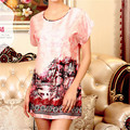 Korean female  summer clothing Home  women vestidos  sleepwear robe short sleeved sexy nightgow
