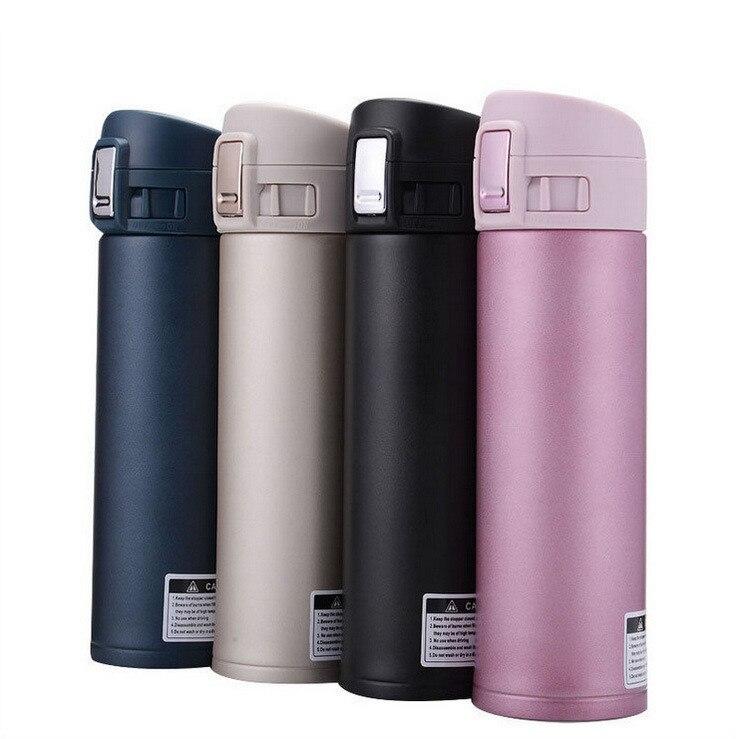 Mode 4 Farben 500 ml Edelstahl Isolierte Tasse Kaffee Tee Thermos Becher Thermische Flasche Thermocup Reise Trinken Flasche