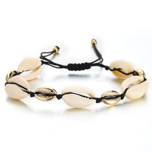 HIYONG  New Arrival Golden Natural Seashell Bracelet shell jewelry cowrie gold silver Beach Shells Bracelets Foot Jewelry Gift