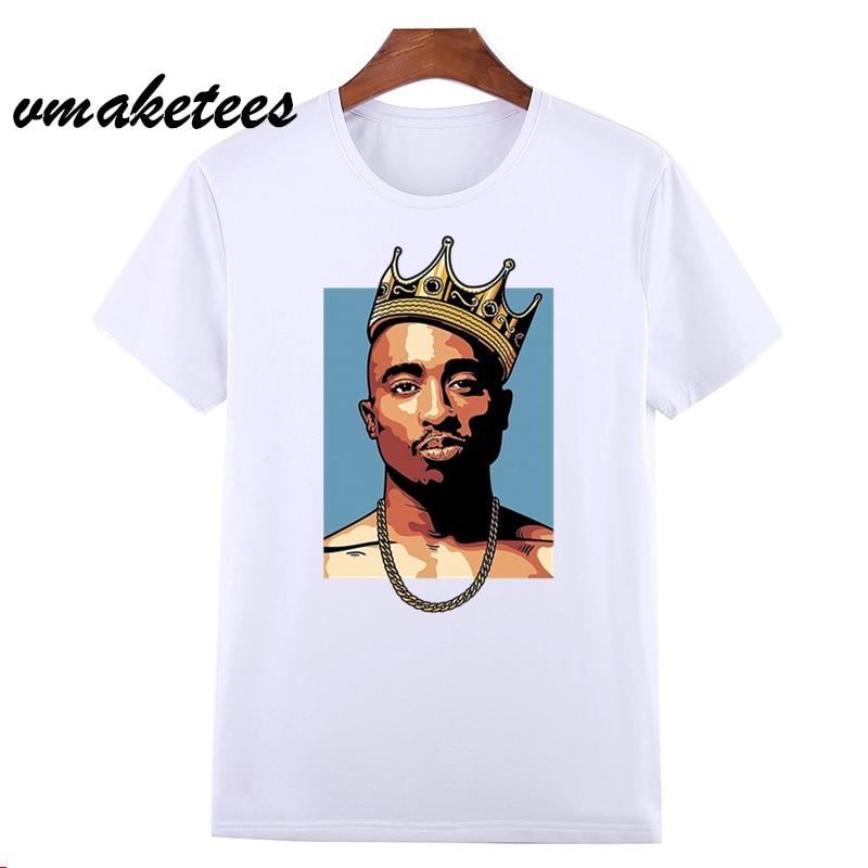 a334474443c3 Men's Hip Hop Raper Tupac 2pac Print T-shirt Women Summer Swag T-shirt Boy Print  Tshirt Hop Swag harajuku Streetwear T shirt