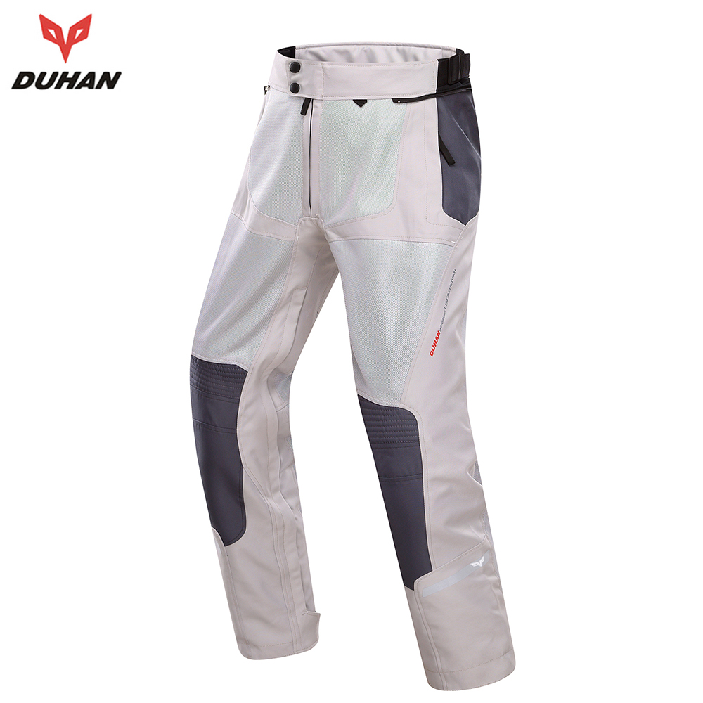 DUHAN Breathable Motorcycle Racing Pants Off-Road Knee Protective Moto Pants Summer Men Black Casual Pants DK-201B 2015 new duhan dk 018 moto pants motorcycle jeans off road motorcycle riding pant drop resistance external protective gear