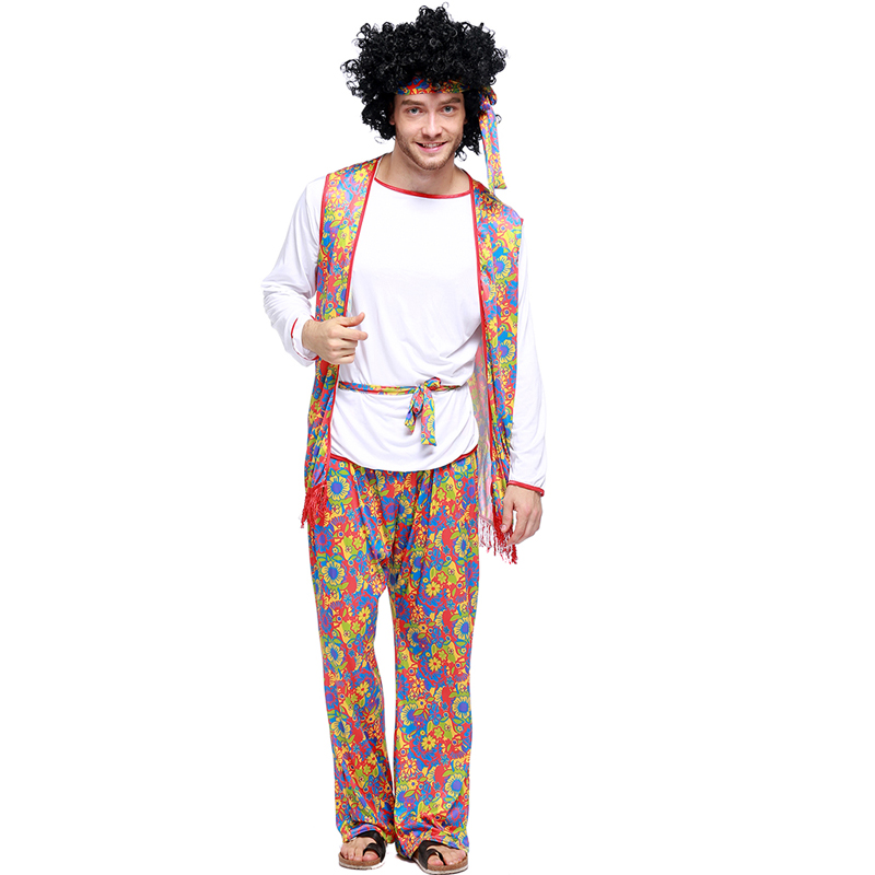 Adult Male Fun and Fantasias Hippie Cosplay Costumes 50u0027s 60u0027s 70u0027s Hippy Fancy Dresses Halloween Outfit Wear For Hippie on Aliexpress.com | Alibaba Group  sc 1 st  AliExpress.com & Adult Male Fun and Fantasias Hippie Cosplay Costumes 50u0027s 60u0027s 70u0027s ...