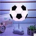 Luz colorida diy fútbol pantalla usb/battery power led lámparas de mesa de luz de noche para niños niños decoración de la habitación de al lado