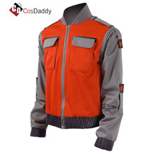 5fa4c38e8c18 Back To The Future Cosplay Costume Jr Marlene Seamus Marty McFly Jacket  Orange Outwear Coat Made any Size CosDaddy