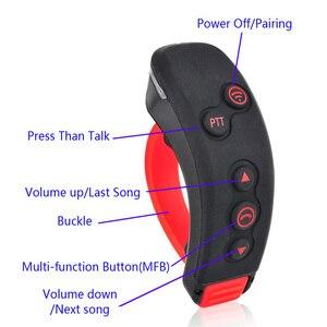 Image 3 - 2 本のt 1.5 キロ 8 双方向ラジオワイヤレスbluetoothインターホン入力オートバイグループトークシステム + リモート制御