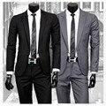 2016 nova chegada terno masculino, revestimento dos homens de slim ternos de negócio blazer, duas peças mens ternos com calças