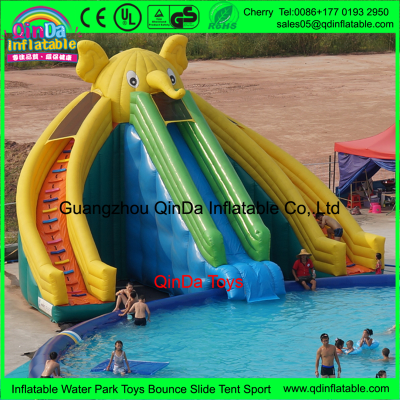 commercial pvc tarpaulin blow up inflatable swimming pool water slide mainland - Blow Up Water Slides