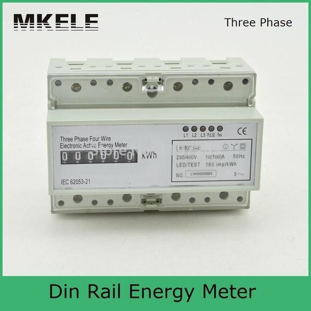 MK LEM021AG 3 phase 4 draht energie meter verbindung, drei phase ...