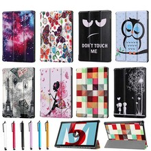 PU Leather Case for Huawei MediaPad M5 Pro 10.8 inch Colourful Printed Tablet Case for Huawei M5 10.8 inch Flip Case Stand Cover