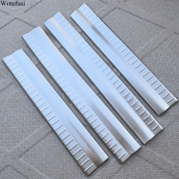 Wotefusi Chrome Interior Door Sill Scuff Plate Guard Trim For Dodge Journey 2011 2012 2013 2014 [QPA373]