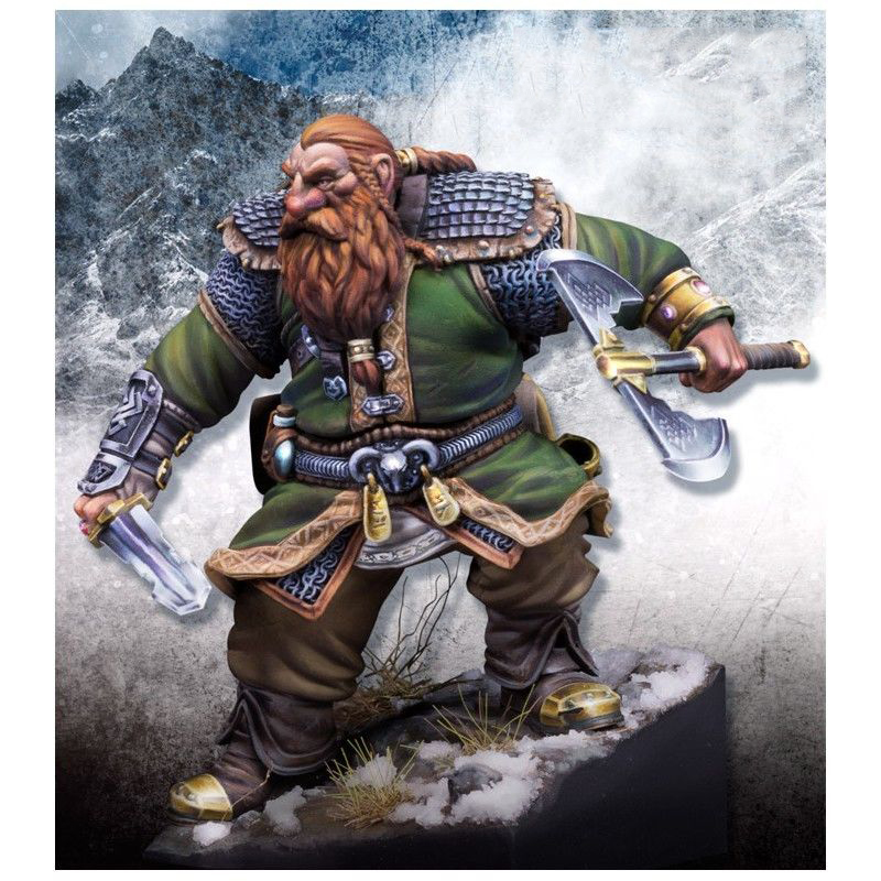 1/24 75mm Broin Bearson With Sword Soldier  Toy Resin Model Miniature Kit Unassembly Unpainted