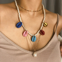 2019 Vintage Bohemian Colorful Shell Satement Pendant Necklace for Women Trendy Bead Collar Choker Necklace Ethnic Wedding Party все цены
