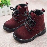Rozmiar 21 30 moda 2019 jesień chłopcy buty dziecięce dla dziewczynek dzieci Martin buty dzieci kostki Zip Sneakers dziewczyna Casual Toddle buty w Trampki od Matka i dzieci na