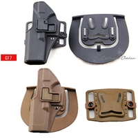 Tactical Left Hand CQC Pistol Holster Military Concealment Waist Belt Loop Paddle Holster For Glock 17