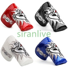 1Pc PU Læder Golf Putter Cover Beskyt Hæklede Cover Hættetilpasning Golf Blade Cover Golf Club Heads Tilbehør Sport SURIEEN