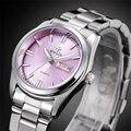 New Brand Relogio Feminino Date Day Clock Female Stainless Steel Watch Ladies Fashion Casual Watch Quartz Wrist Women Watches