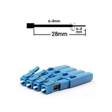 Frete grátis 50 pçs/set LC UPC Fibra Óptica Rápida Conector Adaptador single modo Embutido Rápida conector LC UPC para Fria Splice