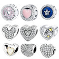 Fit Original Pandora Charm Bracelet 925 Sterling Silver Heart Charm DIY Beads Valentine's Day 2017 Collection Preview Berloque