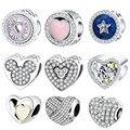 Fit Pandora Original Charm Bracelet 925 Prata Do Encanto Do Coração Beads DIY Dia Dos Namorados 2017 Visualização Collection Berloque
