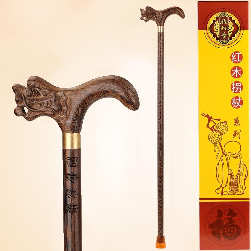 Alas de palo de madera de caoba andador muletas antiguas que llevan a los ancianos suministros letras de caña-in Figuras y miniaturas from Hogar y Mascotas    1