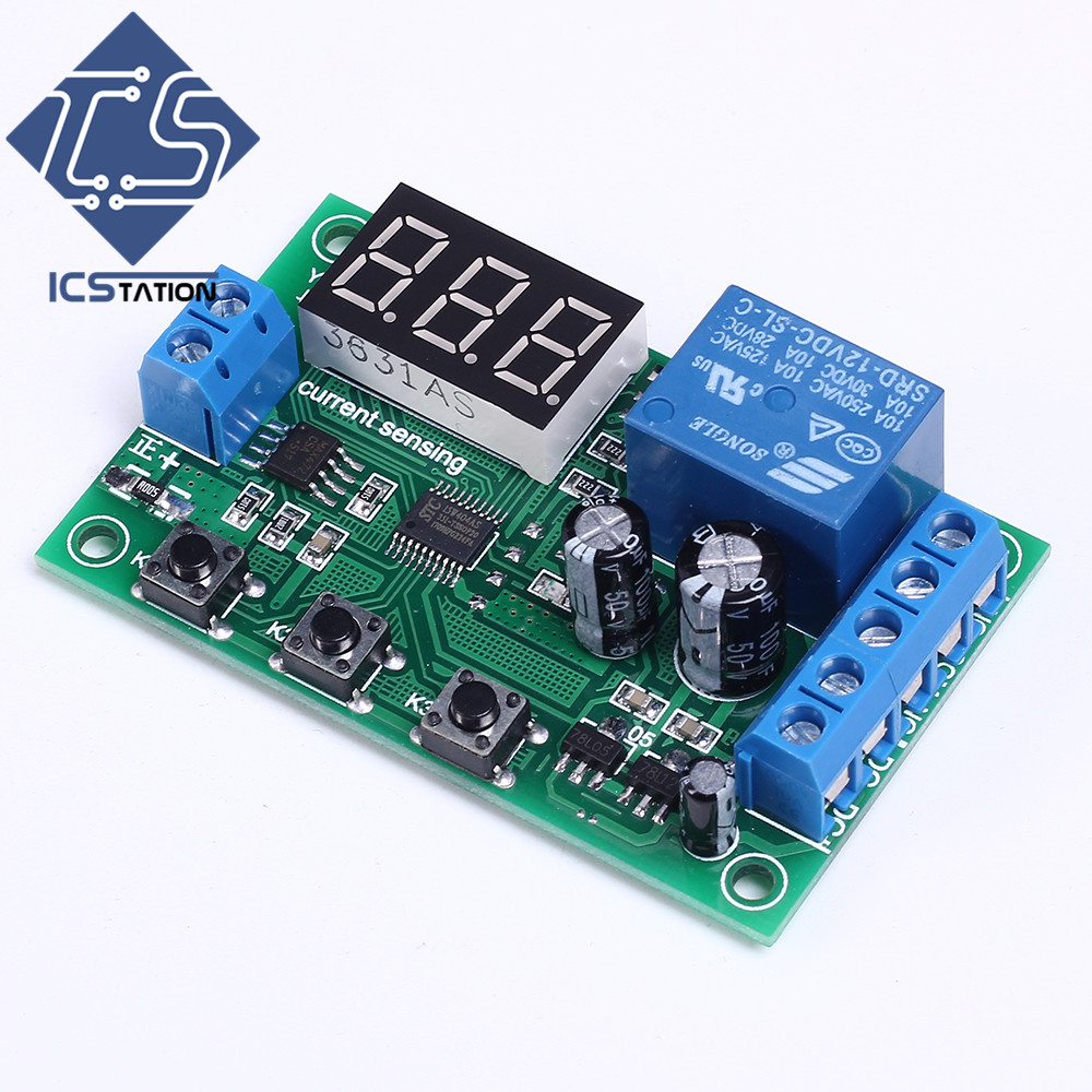 Overcurrent Protection Switch Module Current Detection Board 12V 10A for DC Motors Short-curcuid self stalled Overload Detection wcs1600 hall current sensors measuring 100a short circuit overcurrent protection module