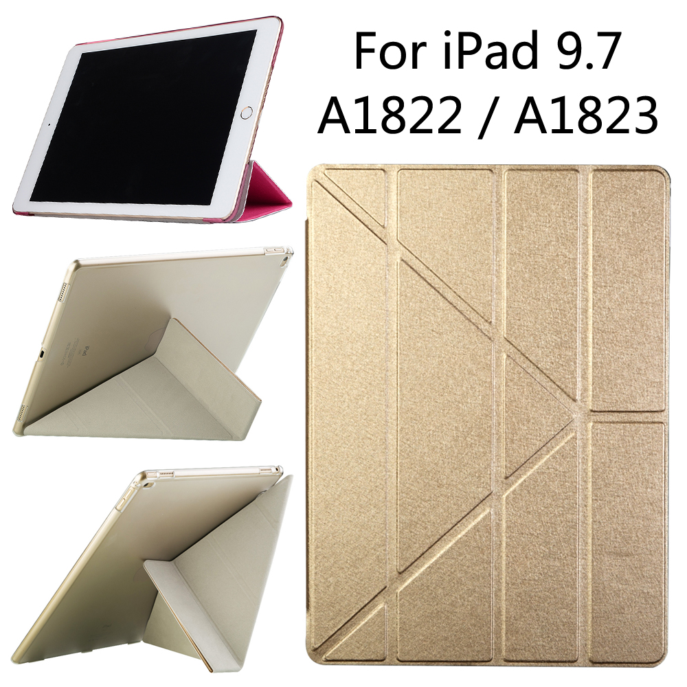 For iPad 9.7 New 2017 A1822 A1823 tablet Smart case Cover Slim Magnetic PU Leather Stand Cases + Film case cover for goclever quantum 1010 lite 10 1 inch universal pu leather for new ipad 9 7 2017 cases center film pen kf492a