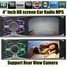 """Nueva cámara de vista trasera apoyo 4.0 """"pulgadas TFT pantalla de HD radio de coche reproductor USB SD aux 1080 P radio 1 din car audio estéreo mp5"""