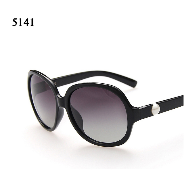 High Quality PC Women Sunglasses With Pearl Inlay On The Arm Polarized Eyeglasses Driving Shopping Glasses Gafas De Sol Mujer