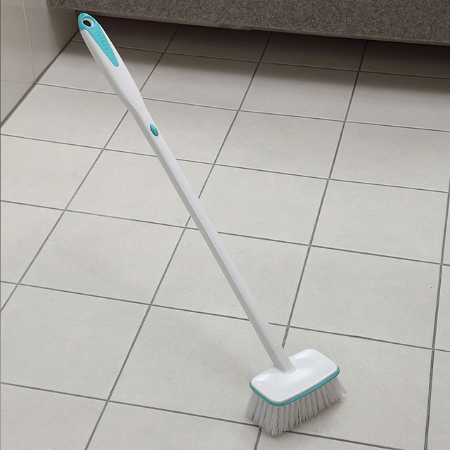 Bathroom Brush Hair Clip Attached Tiled Floor Crevice With