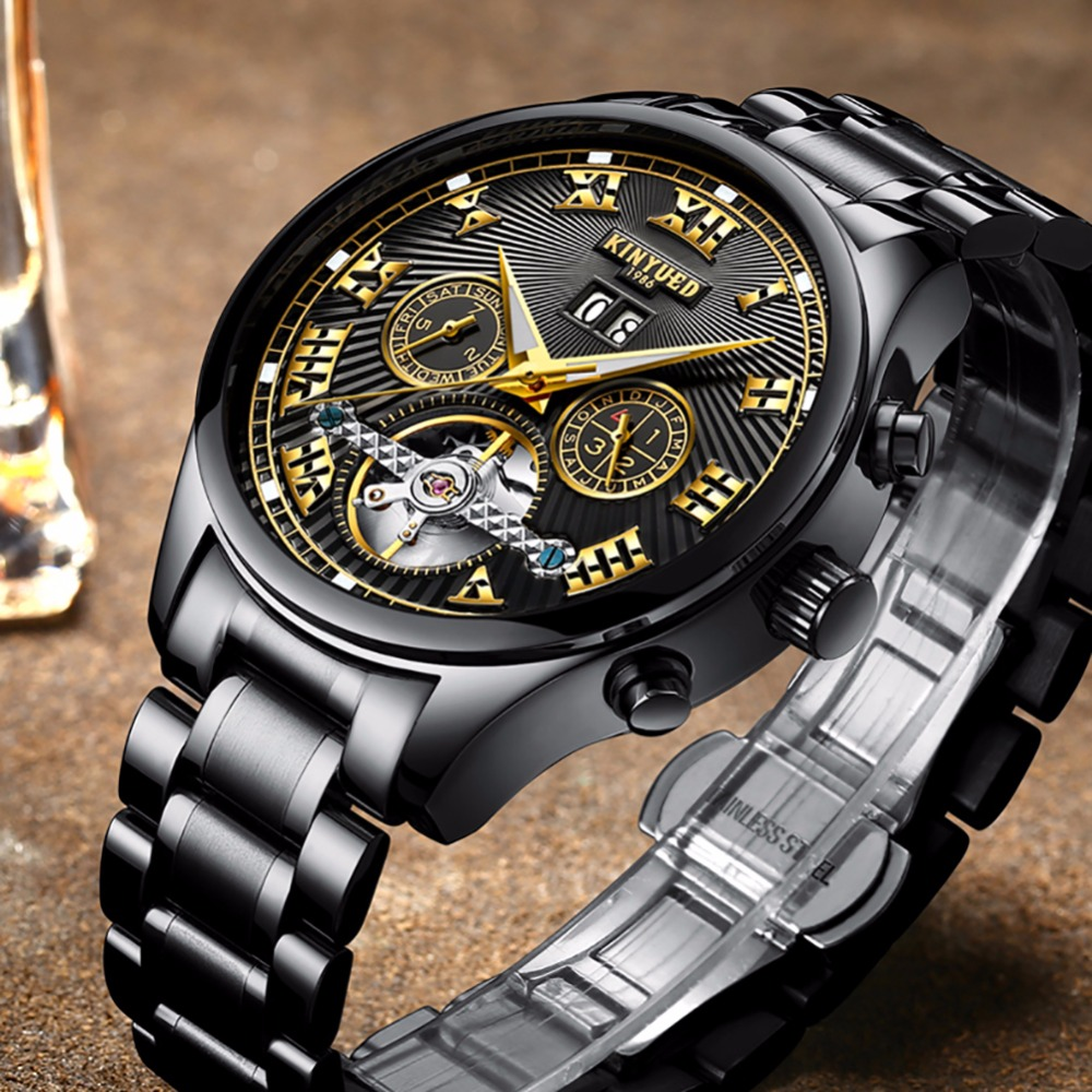 KINYUED New Design Arrivals Mens Watches Top Brand Automatic Self-Wind Mechanical Watch Men Fashion Dress Relogio Masculino t winner fashion skeleton self wind mechanical wrist watch men boy automatic mens watches dress clock gift relogio masculino