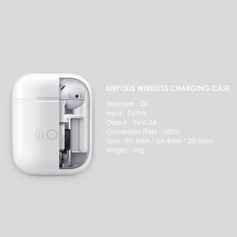 best sneakers e43b4 d9269 US $11.86 |Qi Wireless Charger Case for Apple Airpods Wireless headset QI  Receiver Adapter For AirPods Wireless charger case receiver box-in Mobile  ...