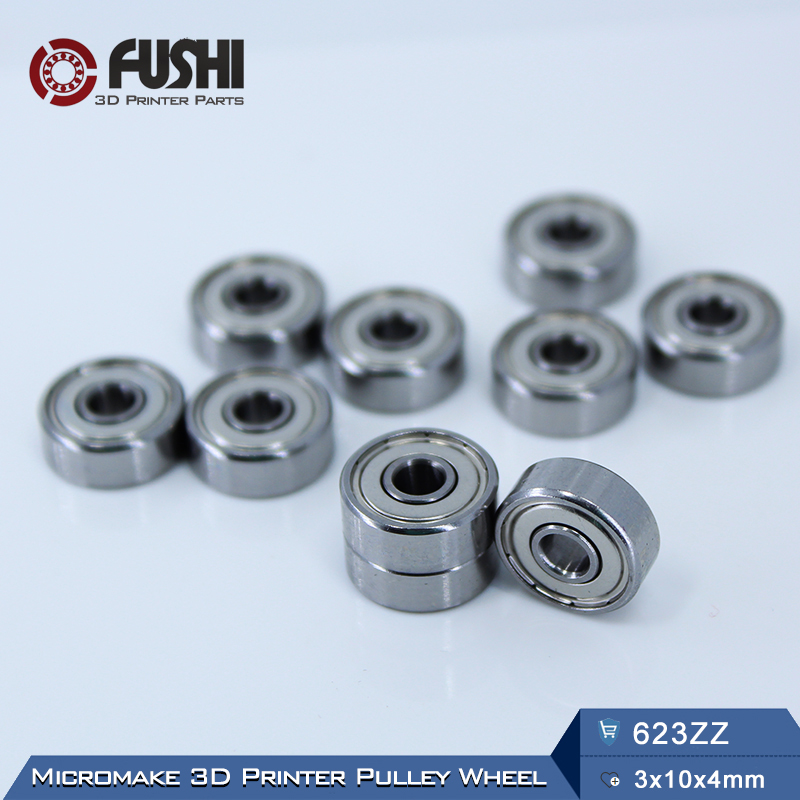 623ZZ Bearing ABEC-5 10PCS 3x10x4 mm Miniature 623-2Z Ball Bearings 623 ZZ EMQ Z3V3 Quality купить