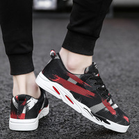 YD EVER 2018 LAISUMK Newest Summer Style Lightweight Men Walking Mesh Casual Shoes Casual Ladies Lace Up Flat Shoes