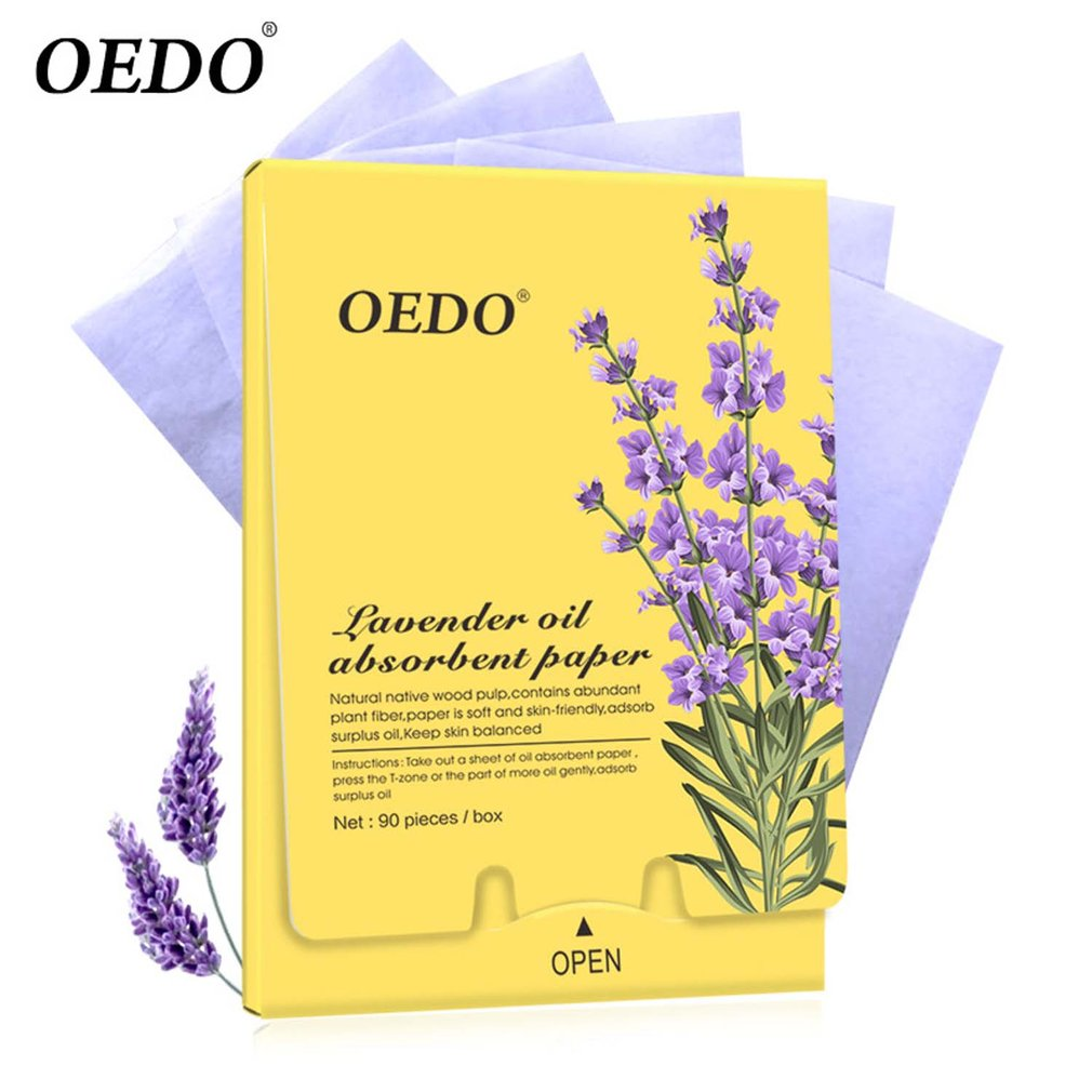 90 Pieces / Box OEDO Lavender Oil Absorbent Paper