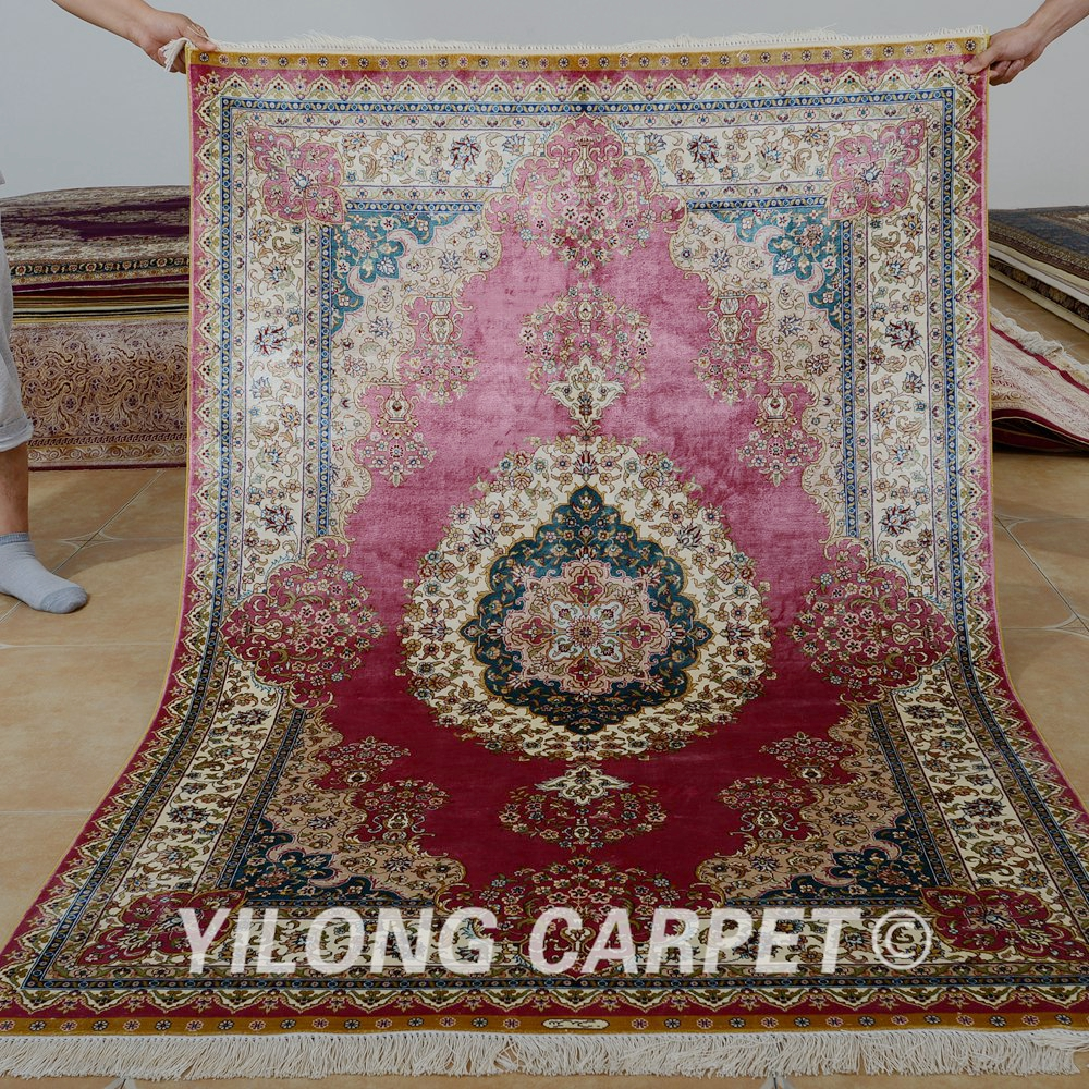 Living Room Persian Rug: Yilong 4'x6' Traditional Red Living Room Carpet Vantage