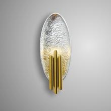 Скандинавский постмодерн креативный настенный светильник из нержавеющей стали, коридор, лестница, галерея, гостиная, прикроватный настенный светильник