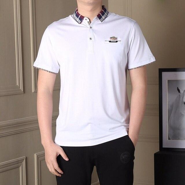Мужчины Polo Рубашка Мужская с коротким Рукавом Твердого Polo Рубашки Camisa Поло Masculina 2017 Случайные хлопка Плюс размер M-XXXL 4XL 5XL Топы тройники