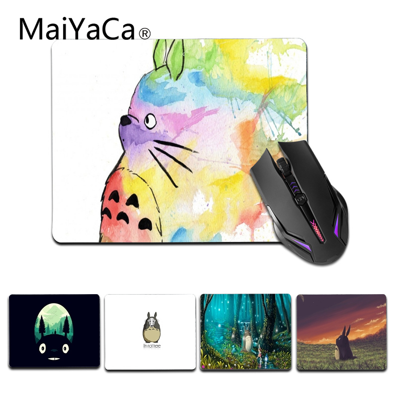 Maiyaca New Anti-slip Pc My Neighbour Totoro Anime Umbrellas Silicon Mouse Pad Mat Mice Pad For Optical Elegant Shape Computer & Office Mouse & Keyboards