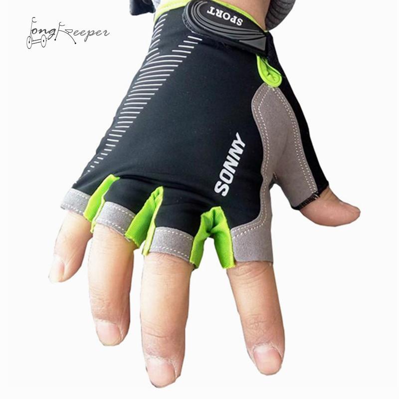 LongKeeper Quality Sports Gloves Half-finger Biking Cycling Gloves for Men Women Fingerless Gym Outdoor Riding Luvas