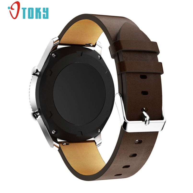 Excellent Quality Fabulous Replacement Leather Watch Bracelet Strap Band For Samsung Gear S3 Frontier Wholesale Dec -26