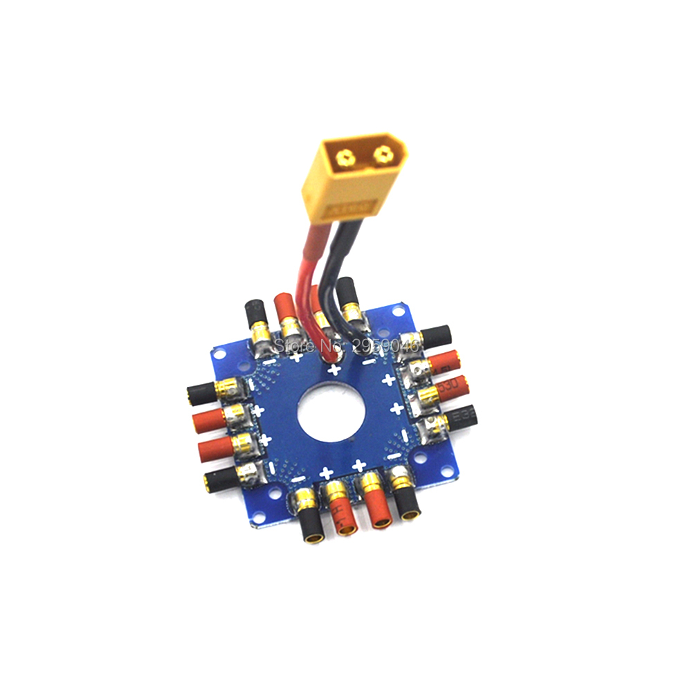 все цены на ESC Power supply Distribution Board Connection Board with XT60 T Plug 3.5mm banana bullet connectors For RC drone онлайн