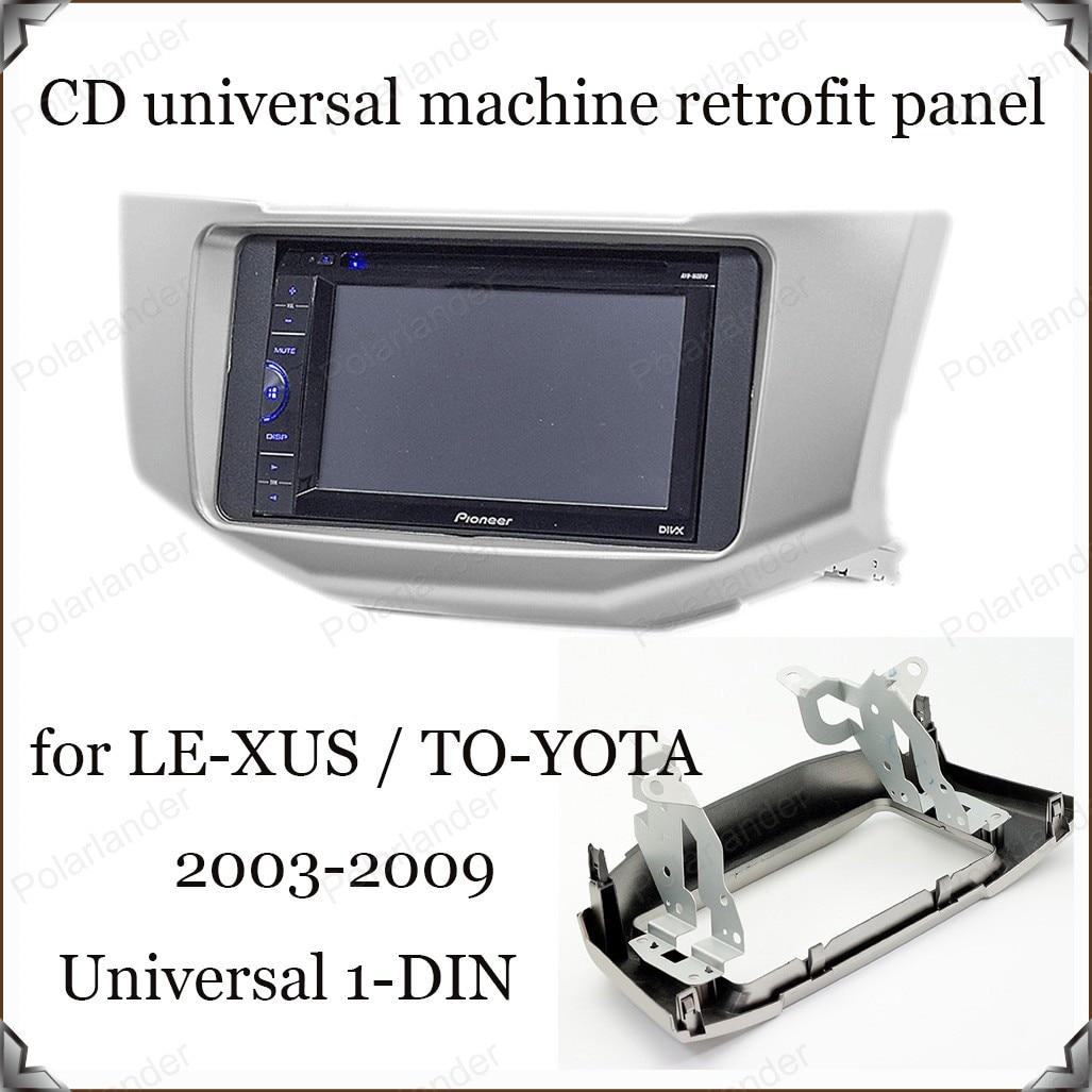Voor TO-YOTA Ha-rrier jaar 03-09 voor LE-XUS RX-300 jaar 03-09 auto audio conversie oppervlak frame refit panel 1-DIN Radio Fascia