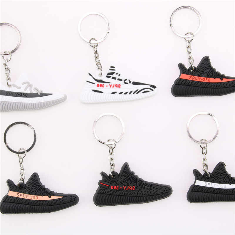 Мини Силиконовый BOOST 350 V2 обувь очаровательный брелок на сумку для женщин, мужчин и детей брелок для ключей подарок SPLY-350 шикарный брелок в виде кроссовка