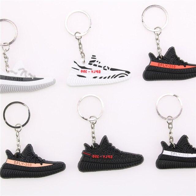 Mini Silicone BOOST 350 V2 Shoes Keychain Bag Charm Woman Men Kids Key Ring Key Holder Gift SPLY-350 Chic Sneaker Keychain 1