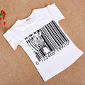 Hot sale Size90~130 child clothing children tops tees for boys short sleeve t-shirt girls t shirt zebra