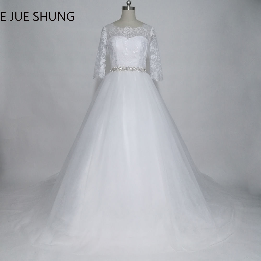 E JUE SHUN robe de mariee White Vintage Lace Էժան Հարսանեկան զգեստներ Ball Gown Off The Shoulder Wedding Gowns trouwjurk