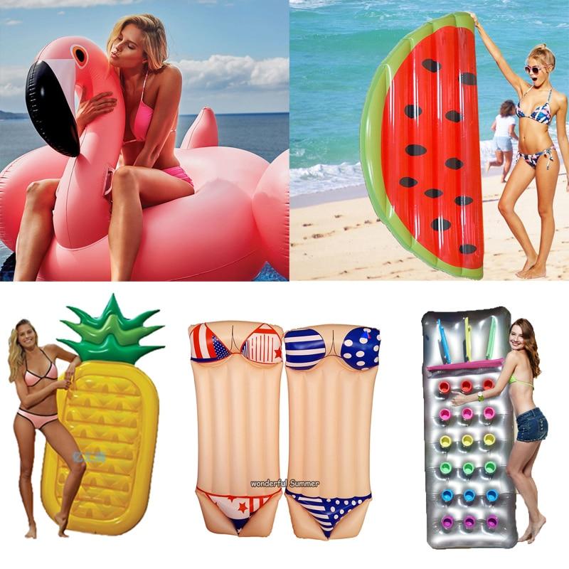 6 styl nafukovací bazén plovák obří labuť vodní meloun plováky ananas plameňák plavecký kroužek dětská a dospělá voda hračka boia piscina