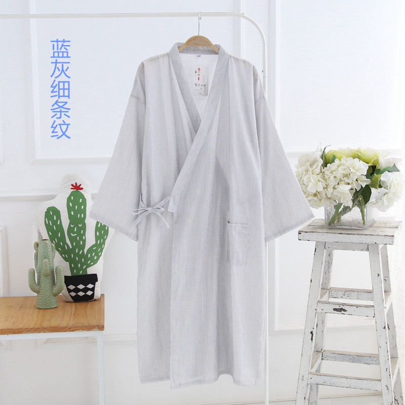 Detail Feedback Questions about New Men s Dyed Double Gauze Robe ... b63607cf9