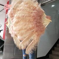 New listing! Big ostrich feather fan decorates Halloween party for belly dancers, 12 feather bars DIY